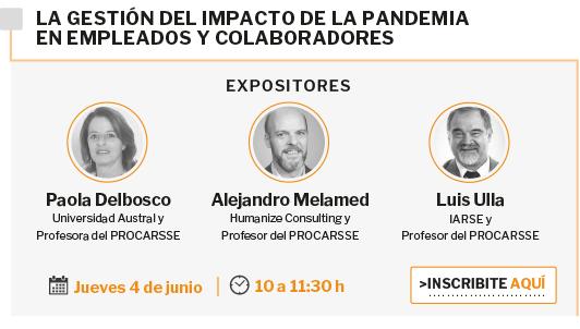 Jueves 4 de junio: La gestión del impacto de la pandemia en empleados y colaboradores